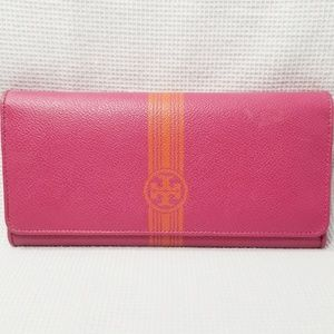 Tory Burch Leather Envelope Snap Wallet 0189